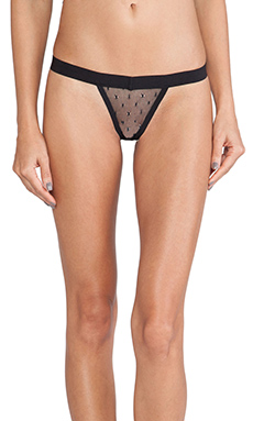 For Love & Lemons Vixen Thong in Black