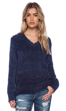 KNITZ by For Love & Lemons Ski Bunny Oversized Sweater in Navy