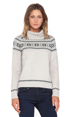 KNITZ by For Love & Lemons Snowed In Sweater in Gray