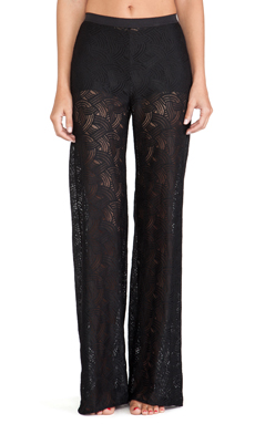 For Love & Lemons Femme Fatale Lace Pants in Black