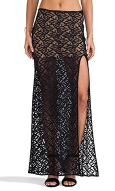 For Love & Lemons Buenas Noches Skirt in Black