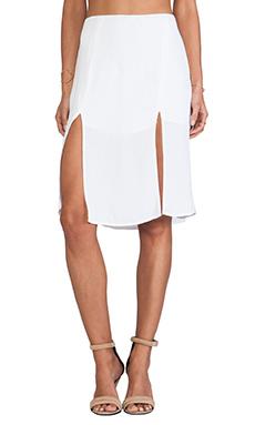 For Love & Lemons Pepe Mini Skirt in Ivory