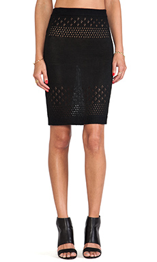 For Love & Lemons Soul Pencil Skirt in Black