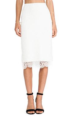 For Love & Lemons Holly pencil Skirt in Off White