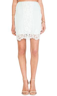 For Love & Lemons Wild Flower Skirt in Mint