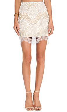 For Love & Lemons Grace Mini Skirt in White