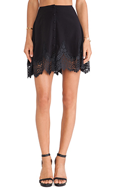 For Love & Lemons Gilly Girl Mini Skirt in Black