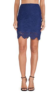 For Love & Lemons Midnight Mini Skirt in Sapphire