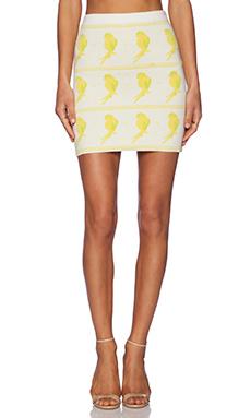 KNITZ by For Love & Lemons Birdie Pencil Skirt in White
