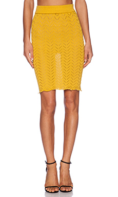 KNITZ by For Love & Lemons Lemon Drop Pencil Skirt in Lemon