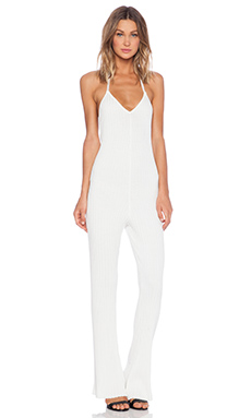 KNITZ by For Love & Lemons Back to Basics Jumpsuit in White