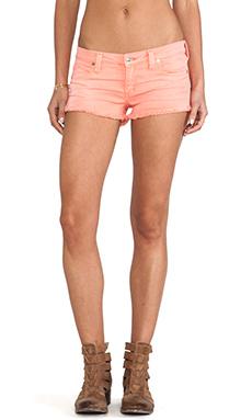 Frankie B. Jeans Summer Girl Short in Tangerine