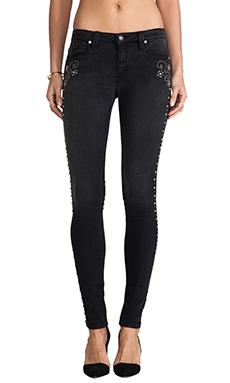 Frankie B. Jeans Nevada Stud Skinnies in Black