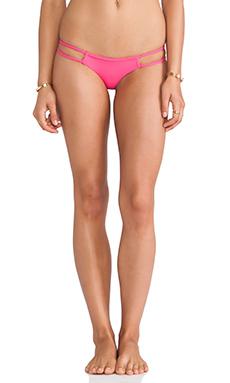 Frankie's Bikinis Oceanside Seamless Skimpy Braided Bikini Bottom in Hot Pink