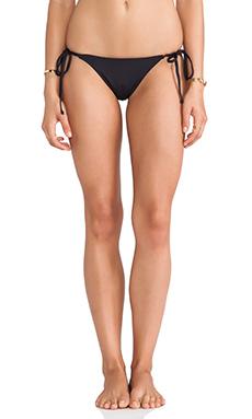 Frankie's Bikinis Mistos Ruched Tie Side Bottom in Black