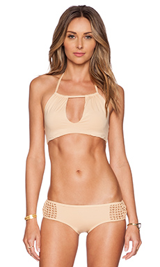 Frankie's Bikinis Koa Bikini Top in Nude