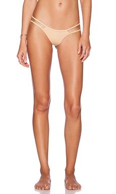 Frankie's Bikinis Ocean Side Bikini Bottom in Nude