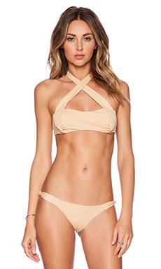 Frankie's Bikinis St. Tropez Bikini Top in Nude