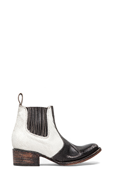 Freebird by Steven Lasso-P Bootie in Black/White