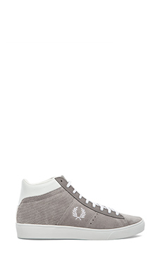 Fred Perry Spencer Mid Sneaker in Cloudburst/ White
