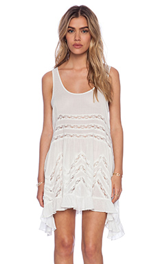 Free People Trapeze Slip Dress in White Combo
