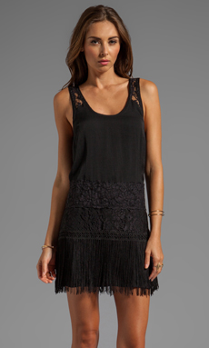 Free People Charleston Shift Dress in Black Combo