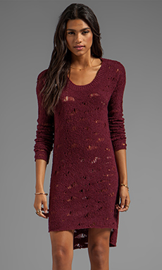 Free People Eye On You Tunic Pull Over in Wine