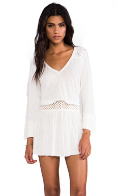 Free People Moonlight Romantic Tunic in Ivory