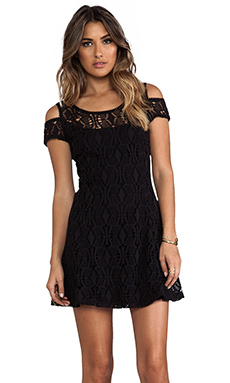 Free People Kiss The Sun Off Shoulder Dress in Black