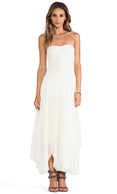 Free People Mesh Dress in Ivory