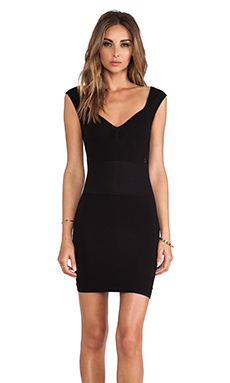 Free People Bodycon Slip Dress in Black