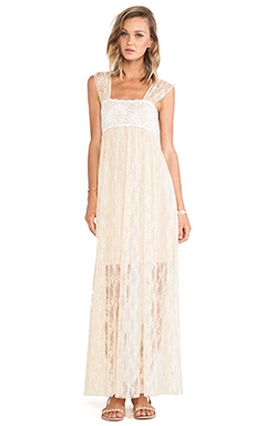 Free People Romance in the Air Dress in Tea