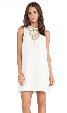 Free People Solid Maribelle Mini Dress in Ivory