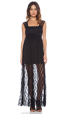 Free People Romance In The Air Slip in Black