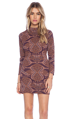 Free People Cute N Cozy Bodycon Dress in Berry Combo
