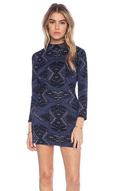 Free People Cute N Cozy Bodycon Dress in Midnight Combo