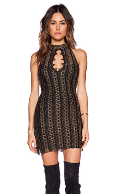 Free People Call A Cab Lace Tunic in Black