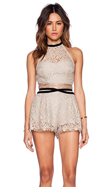 Free People Set Me Up Halter & Skort Set in Champagne