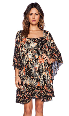 Free People Heart of Gold Dress in Moonlight Garden Combo
