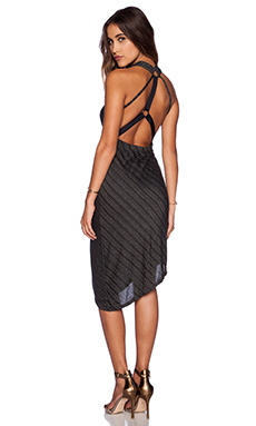 Free People Temptress Bodycon Dress in Charcoal Combo