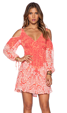 Free People Penny Lover Mini Dress in Clementine Combo