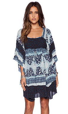 Free People Heart of Gold Dress in Indigo Combo