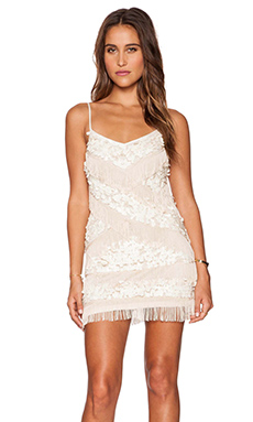 Free People Cosmic Crystal Dress in Shell