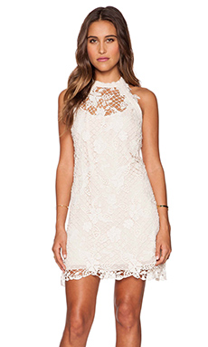 Free People Snowdrop Lace Dress in Softshell Combo