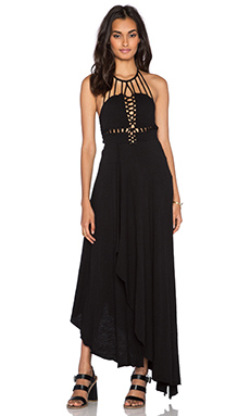 Free People Beautiful Stranger Maxi Dress in Black