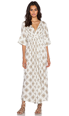 Free People Oasis Maxi Dress in Vanilla Combo