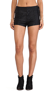 Free People Vegan Leather Short in Black