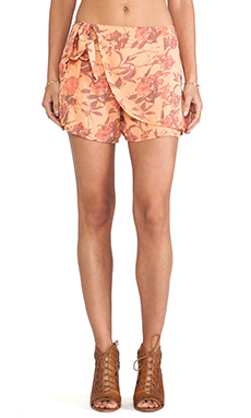 Free People Printed Sarong Short in Tangerine Combo
