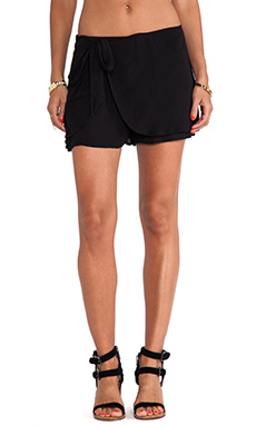 Free People Solid Sarong Short in Black
