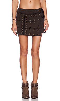 Free People Wanderlust Wrap Skort in Black